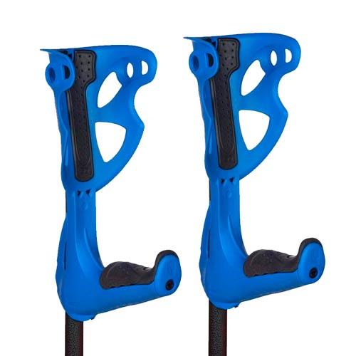 Muletas Opticomfort Premium azules