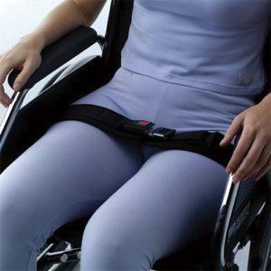 cinturón pélvico para silla de ruedas con cierre de seguridad