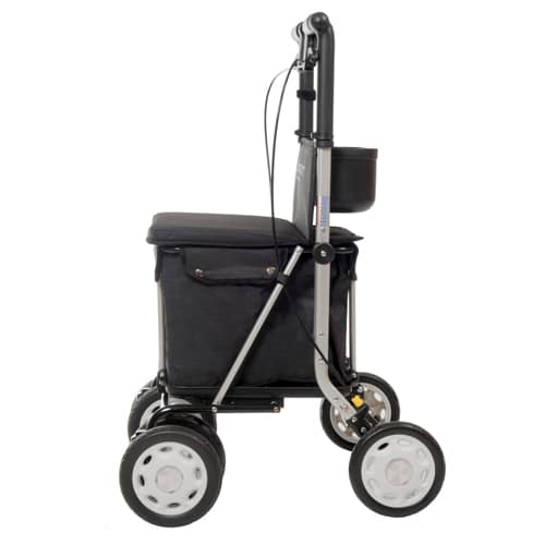 Carro de la Compra Andador Lett900 negro lateral