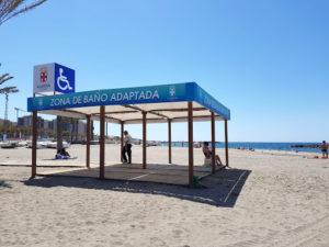 zona de baño playa accesible