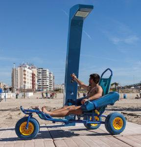 ducha playa accesible