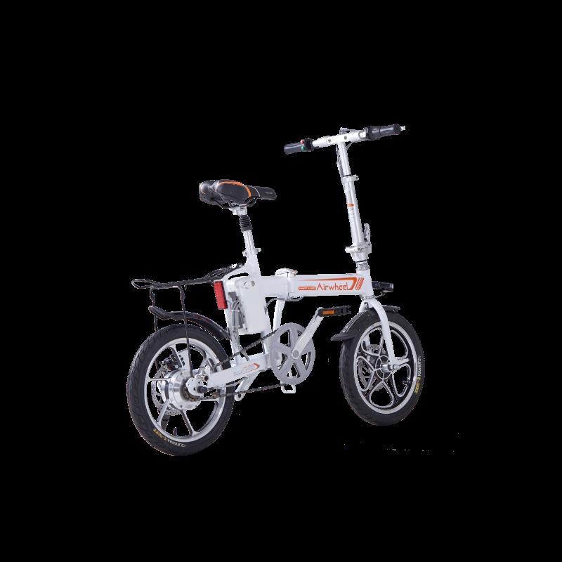 bicleta electrica plegable blanca r5