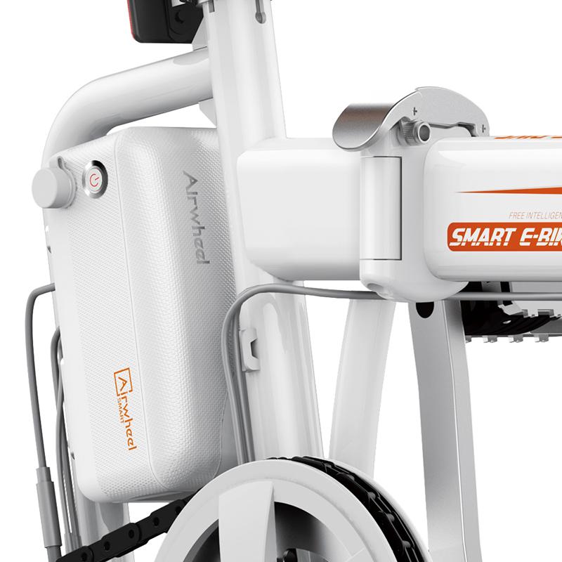 bicicleta electrica plegable r5 blanca