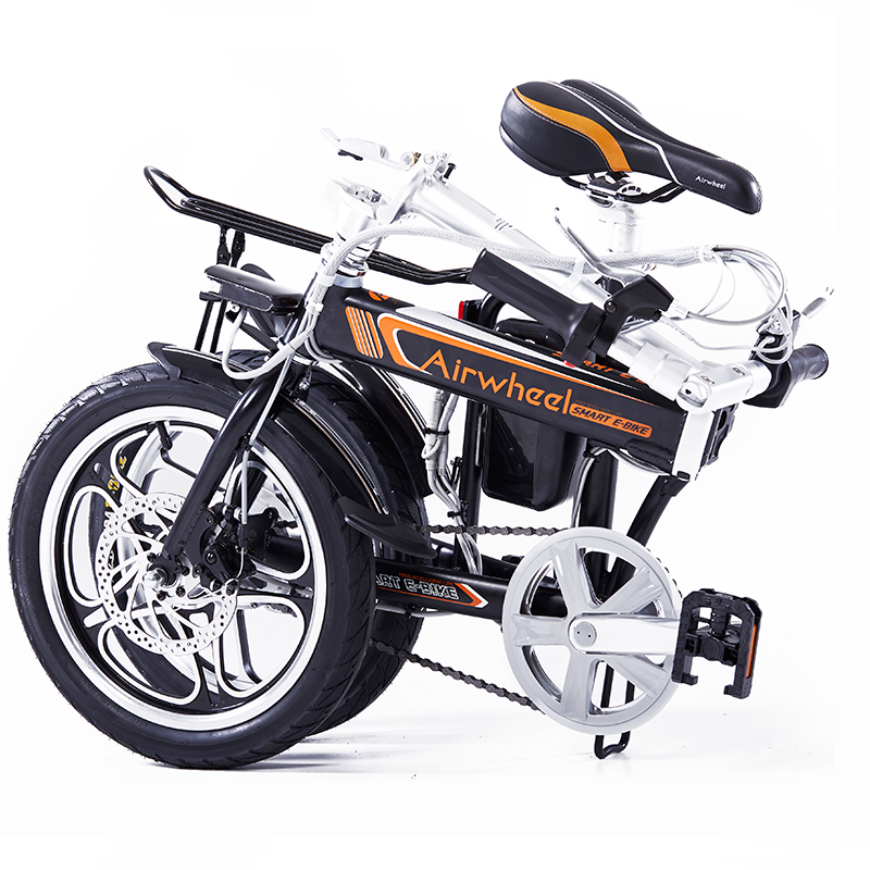 bicileta plegable electrica negra r5