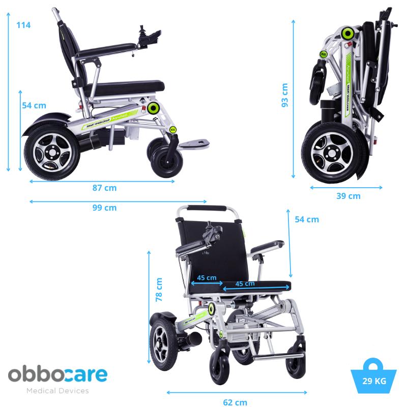 Medidas H3S Obbocare silla de ruedas eléctrica